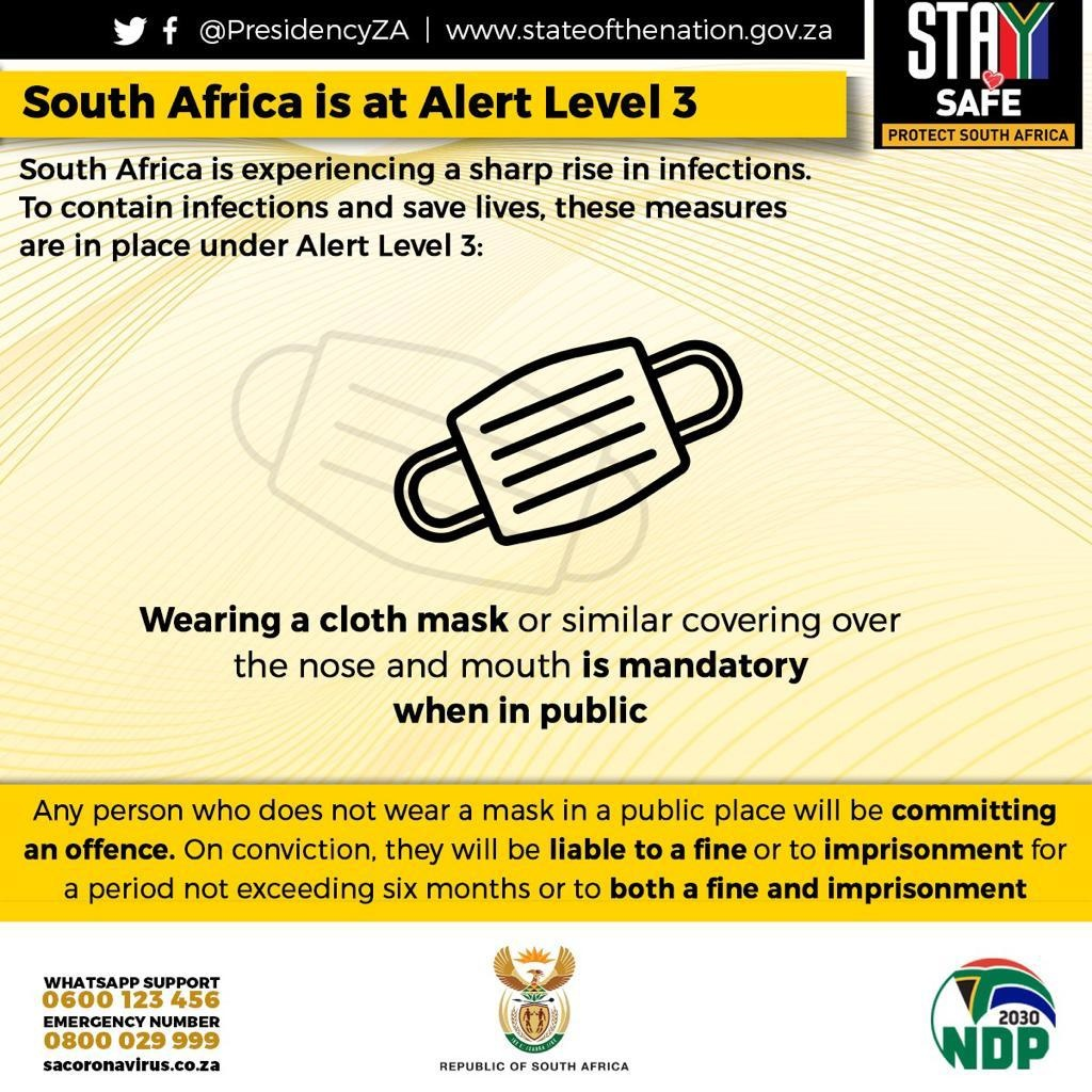 South Africa back to Adjusted Level 3 lockdown